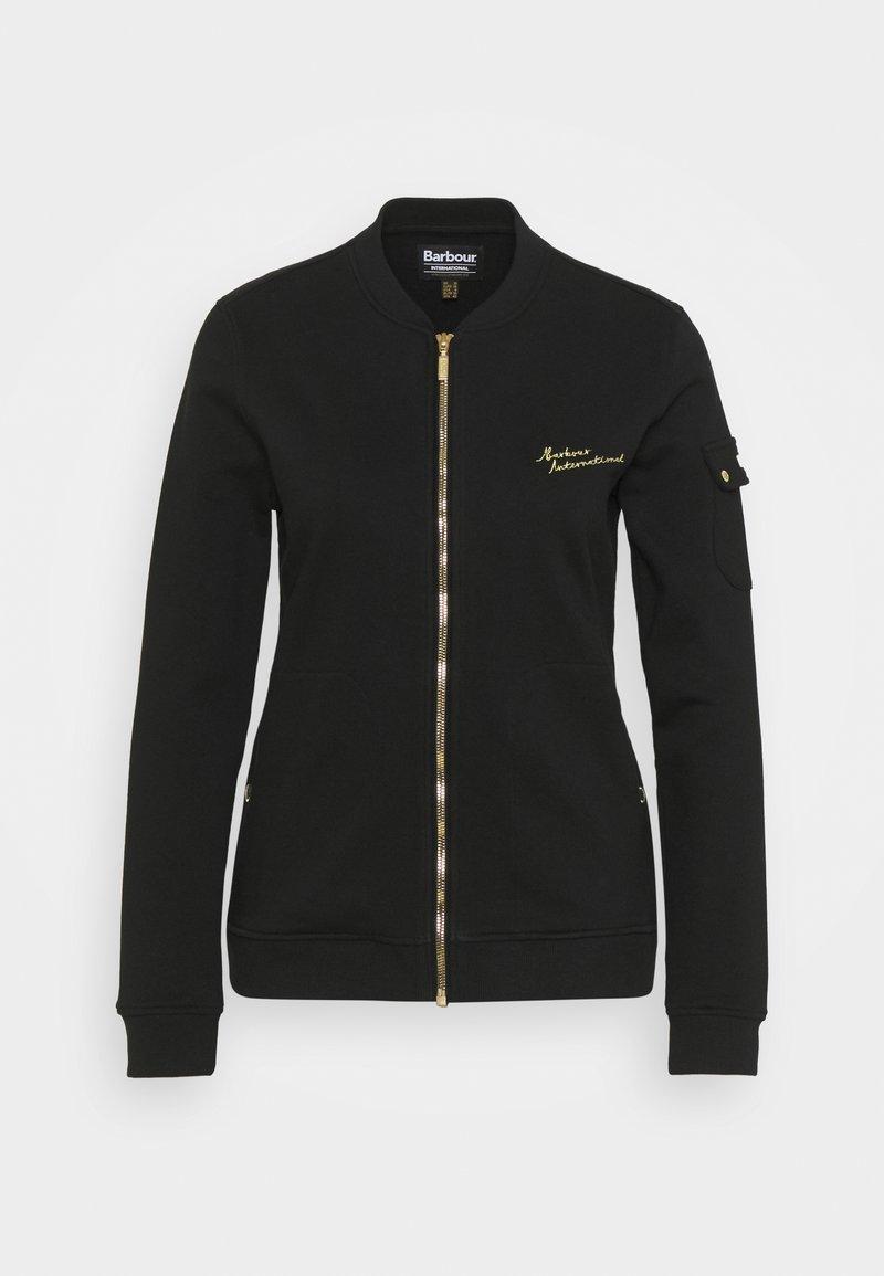 Barbour International - MINATO OVERLAYER - Mikina na zip - black