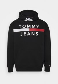 Tommy Jeans Plus - PLUS REFLECTIVE FLAG HOODIE - Collegepaita - black - 0