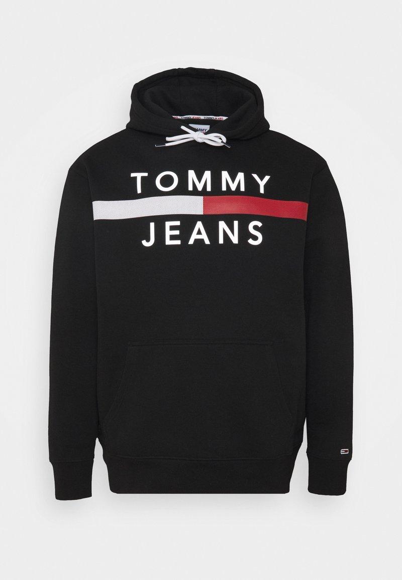 Tommy Jeans Plus - PLUS REFLECTIVE FLAG HOODIE - Collegepaita - black