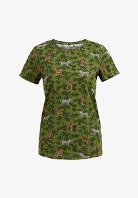 WE Fashion - Print T-shirt - army green - 5