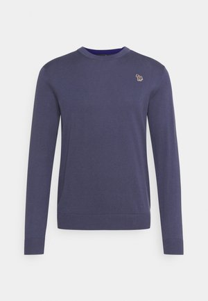MENS CREW NECK ZEBRA - Jumper - grey/dark blue