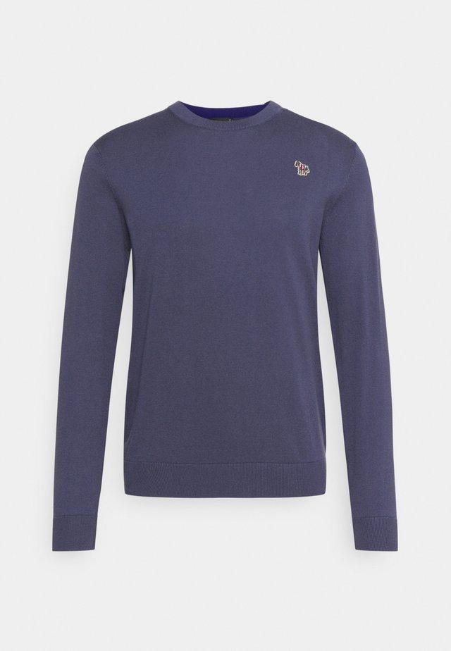 MENS CREW NECK ZEBRA - Pullover - grey/dark blue