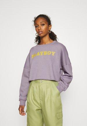 PLAYBOY LOGO CROP - Sweater - charcoal