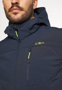 CMP - MAN ZIP HOOD JACKET - Soft shell jacket - blue/acido - 5