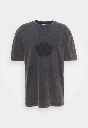 BOXY TEE - Print T-shirt - faded dark grey
