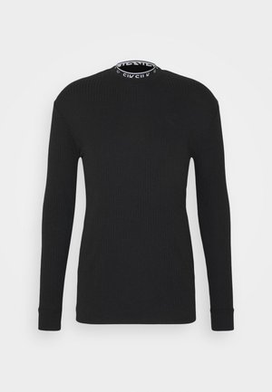 RIB KNIT TEE - Long sleeved top - black
