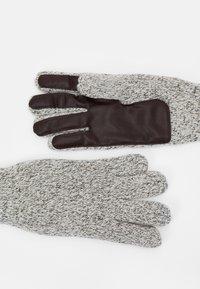 Jack & Jones - JACETHAN GLOVES - Gloves - white melange - 1