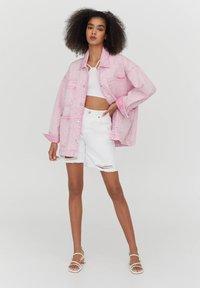 PULL&BEAR - Denim jacket - rose - 1