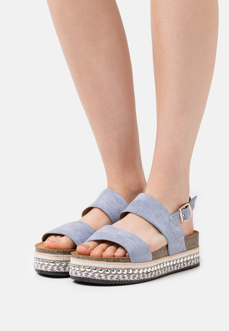 SassyClassy - Platform sandals - blue