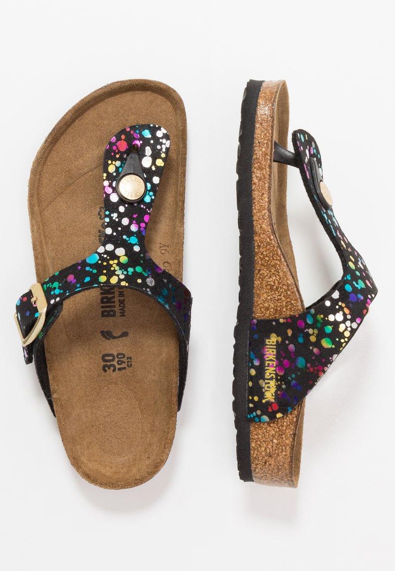 Birkenstock - GIZEH - Sandály s odděleným palcem - black