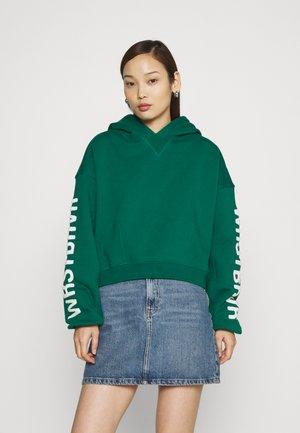 LANI HOODIE WASHED - Sweatshirt - bottle green