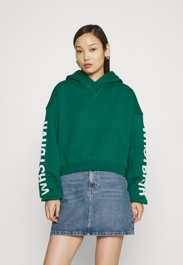 LANI HOODIE WASHED - Collegepaita - bottle green
