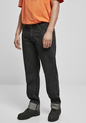 Straight leg jeans - black washed