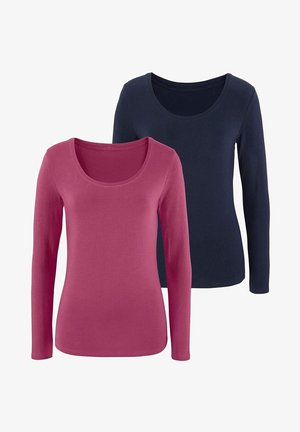 2 PACK - Long sleeved top - beere navy