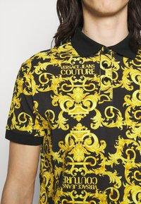 Versace Jeans Couture - PRINT LOGO BAROQUE  - Polo - black - 4