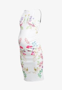 True Violet Maternity - STRAP BACK MIDI DRESS - Kotelomekko - white
