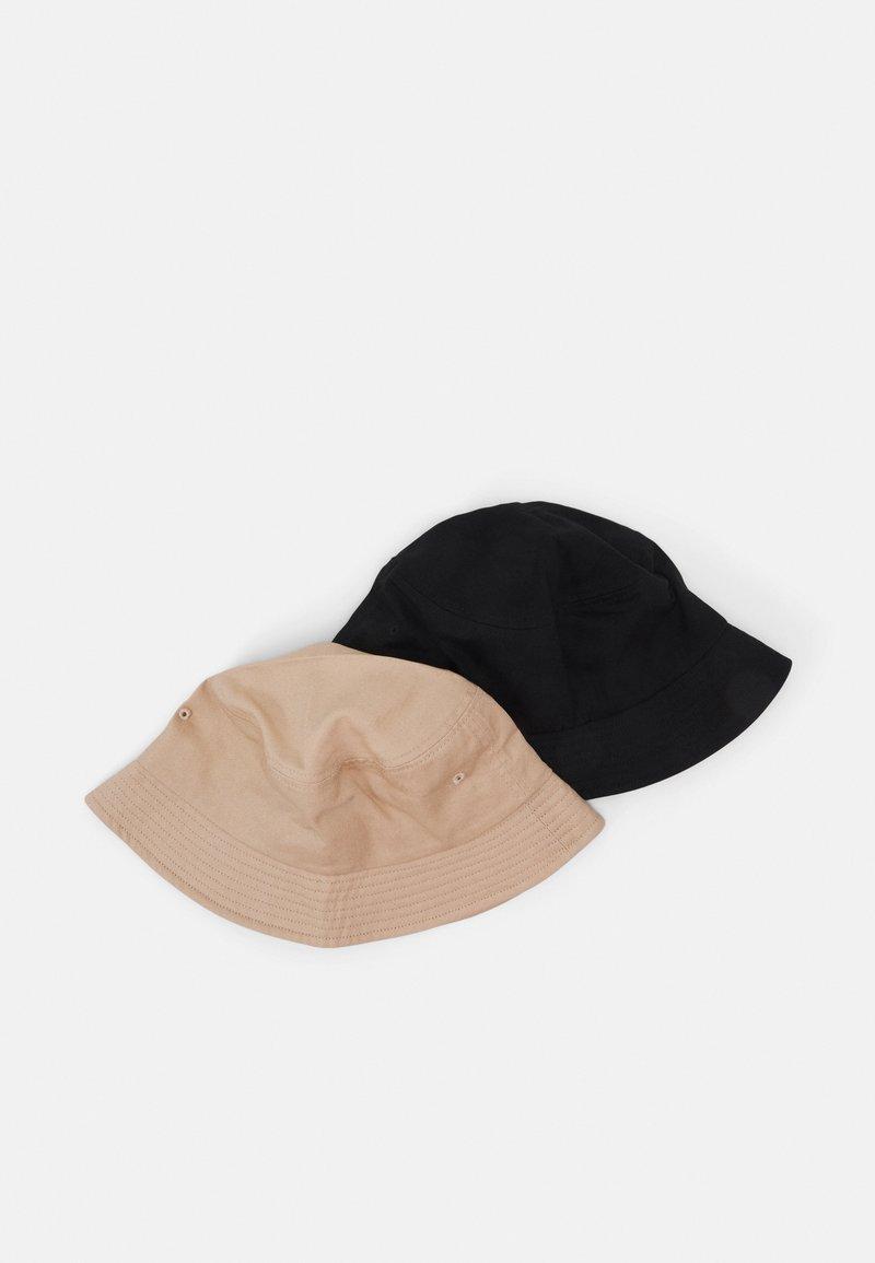 Only & Sons - ONSTRISTIAN BUCKET HAT 2 PACK - Hattu - black/beige
