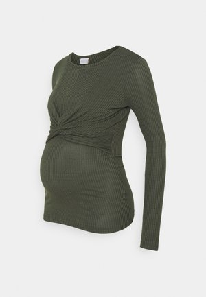 MLANLI JUNE - Long sleeved top - thyme melange