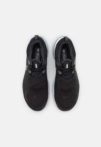 Nike Performance - REACT MILER SHIELD - Neutral running shoes - black/white/pure platinum/dark smoke grey/reflect silver - 3