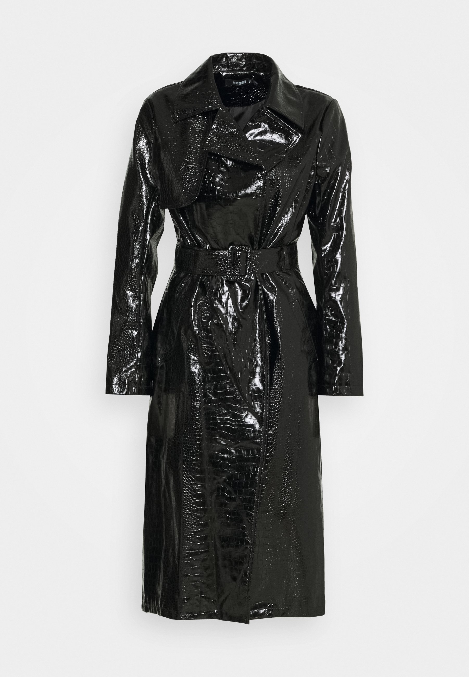 Women CROC BELTED MAXI - Trenchcoat