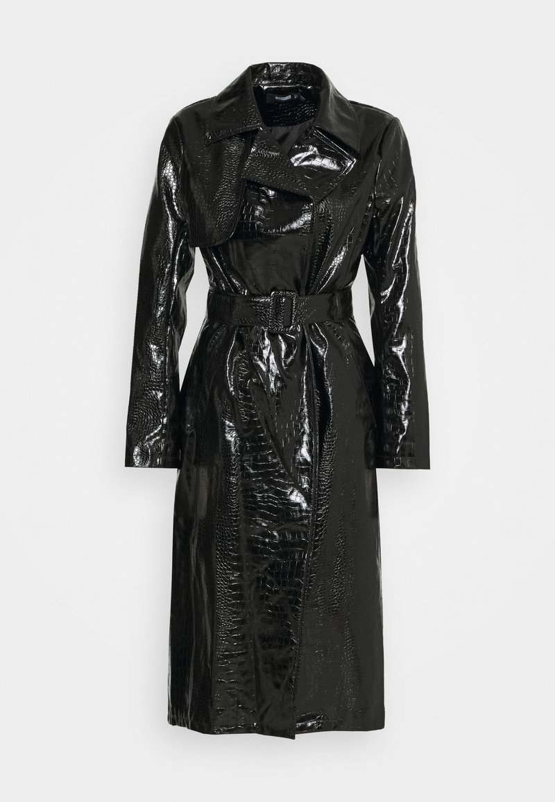 Missguided - CROC BELTED MAXI - Trenssi - black