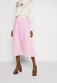 See by Chloé - A-line skirt - pink/white - 0