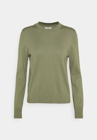Marc O'Polo - LONGSLEEVE ROUND NECK - Jumper - dried sage - 0