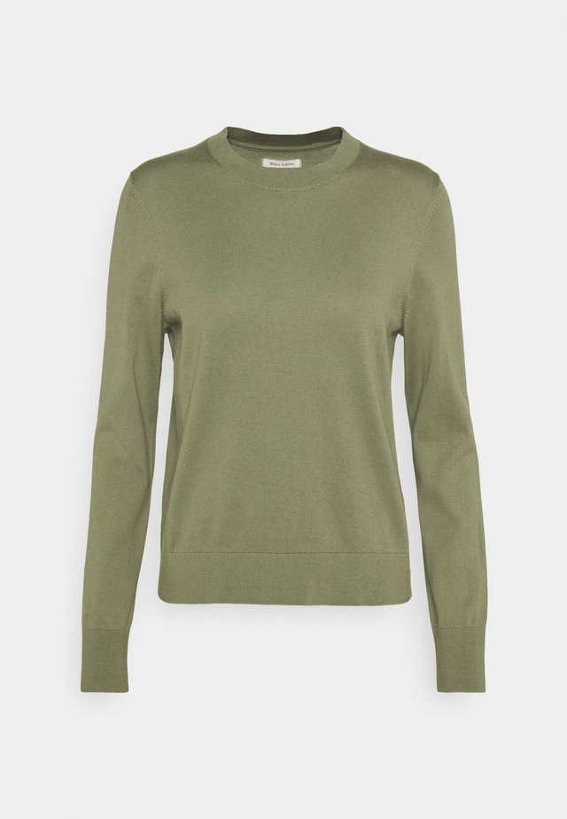 LONGSLEEVE ROUND NECK - Sweter - dried sage