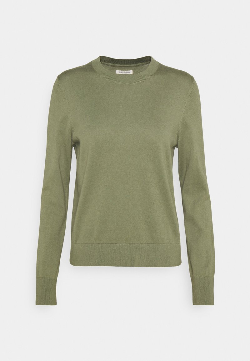 Marc O'Polo - LONGSLEEVE ROUND NECK - Jumper - dried sage