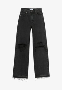 Bershka - Jeans Relaxed Fit - black - 4