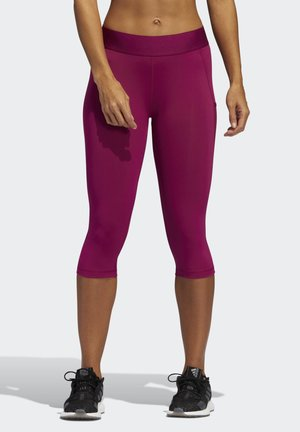 ALPHASKIN LEGGINGS - 3/4 Sporthose - purple