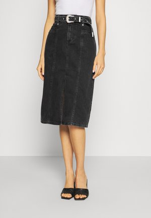 ONLVERONA LIFE LONG SKIRT - Pencil skirt - dark grey denim