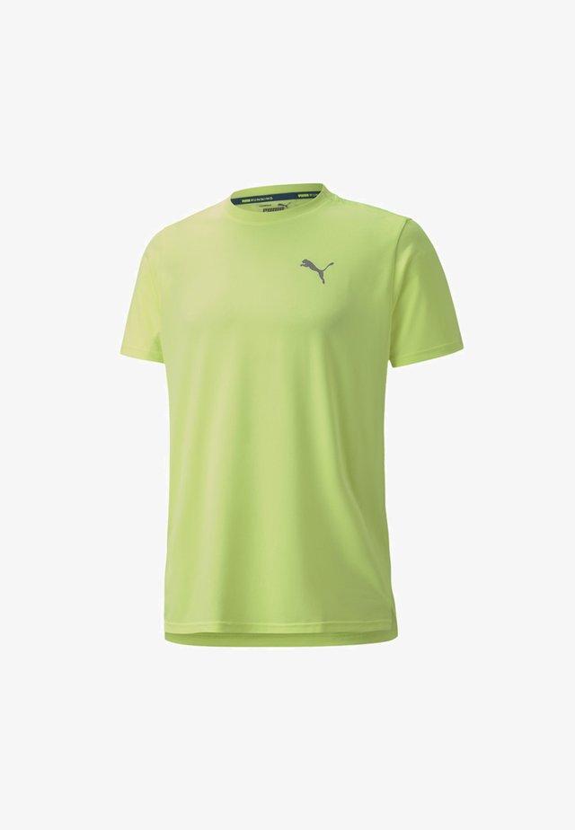 LITE LASER CAT  - Basic T-shirt - fizzy yellow