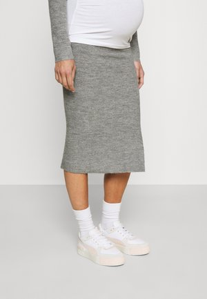 BECK KNIT SKIRT - Jeans Skinny Fit - charcoal marle