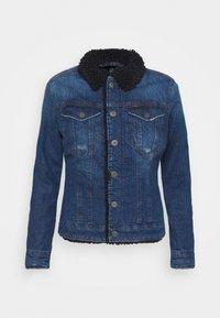 G-Star - 3301 SLIM SHERPA - Denim jacket - antic faded oregon blue - 4