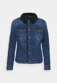 3301 SLIM SHERPA - Denim jacket - antic faded oregon blue