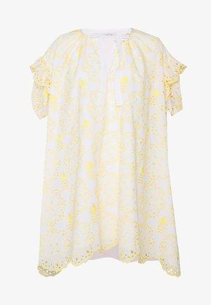 DRESS - Korte jurk - fantasia bianco/giallo