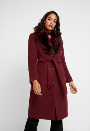 COLLAR COAT - Classic coat - burgundy