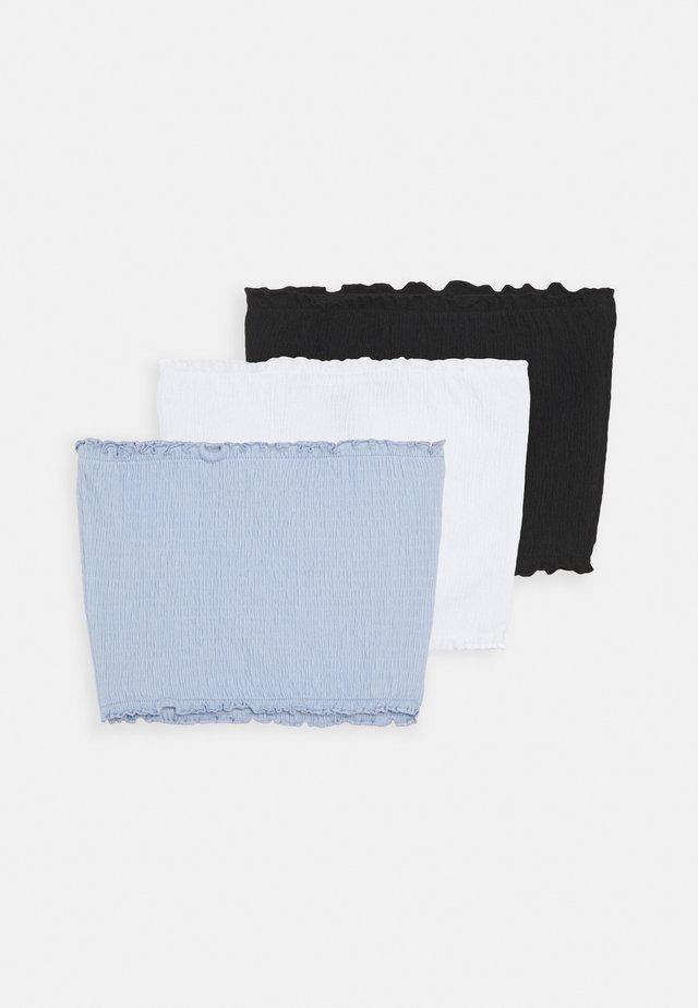 SHIRRED BANDEAU 3 PACK - Top - light blue