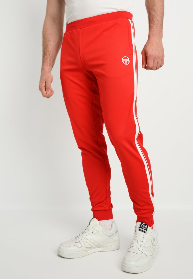 YOUNG LINE - Tracksuit bottoms - red/wht