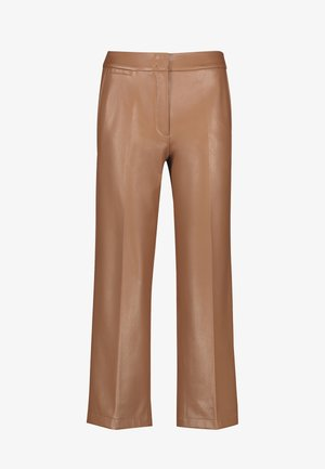 Leather trousers - toffee