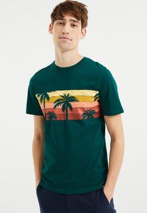 MET PALMBOMENOPDRUK - Print T-shirt - dark green