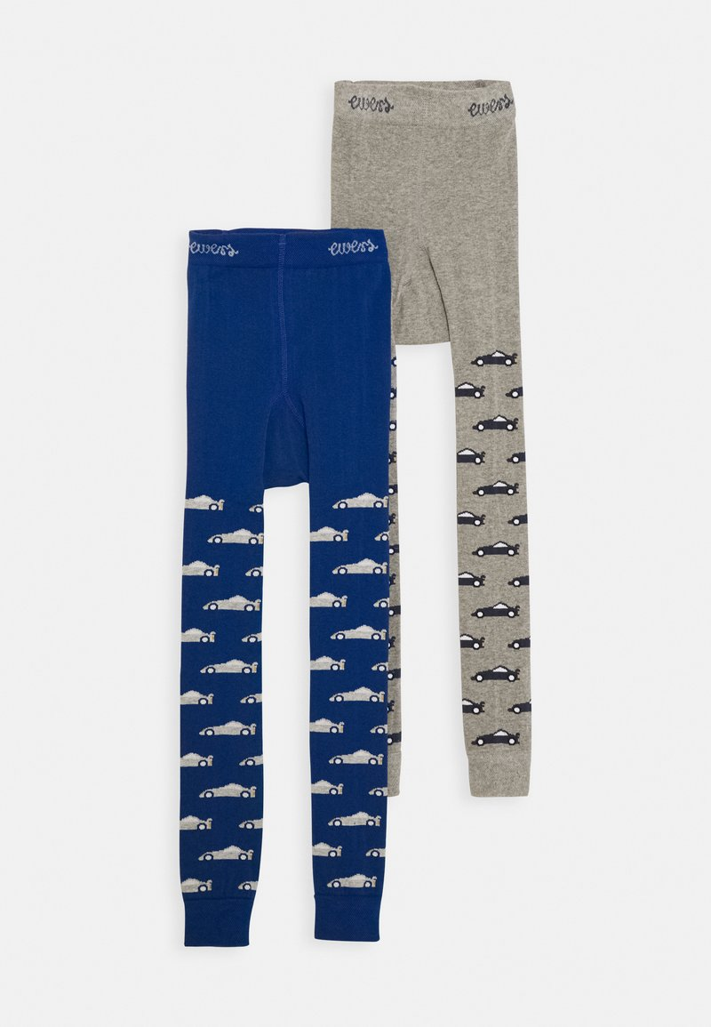 Ewers - KIDSLEGGING CARS 2 PACK - Leggings - blau/grau