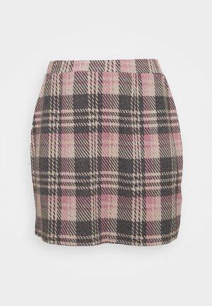 ALINE CHECK MINI SKIRT - Mini skirt - pink