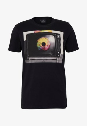 MENS SLIM FIT TV EYE - Print T-shirt - black