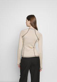 Weekday - AMY LONG SLEEVE - Long sleeved top - beige/black - 2