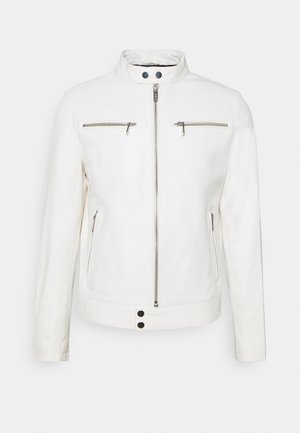 BIKER JACKET - Leather jacket - white