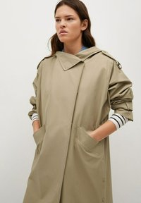 Mango - Classic coat - kaki - 3