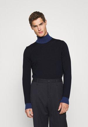 LYD COLOR BLOCK - Stickad tröja - navy/majolica