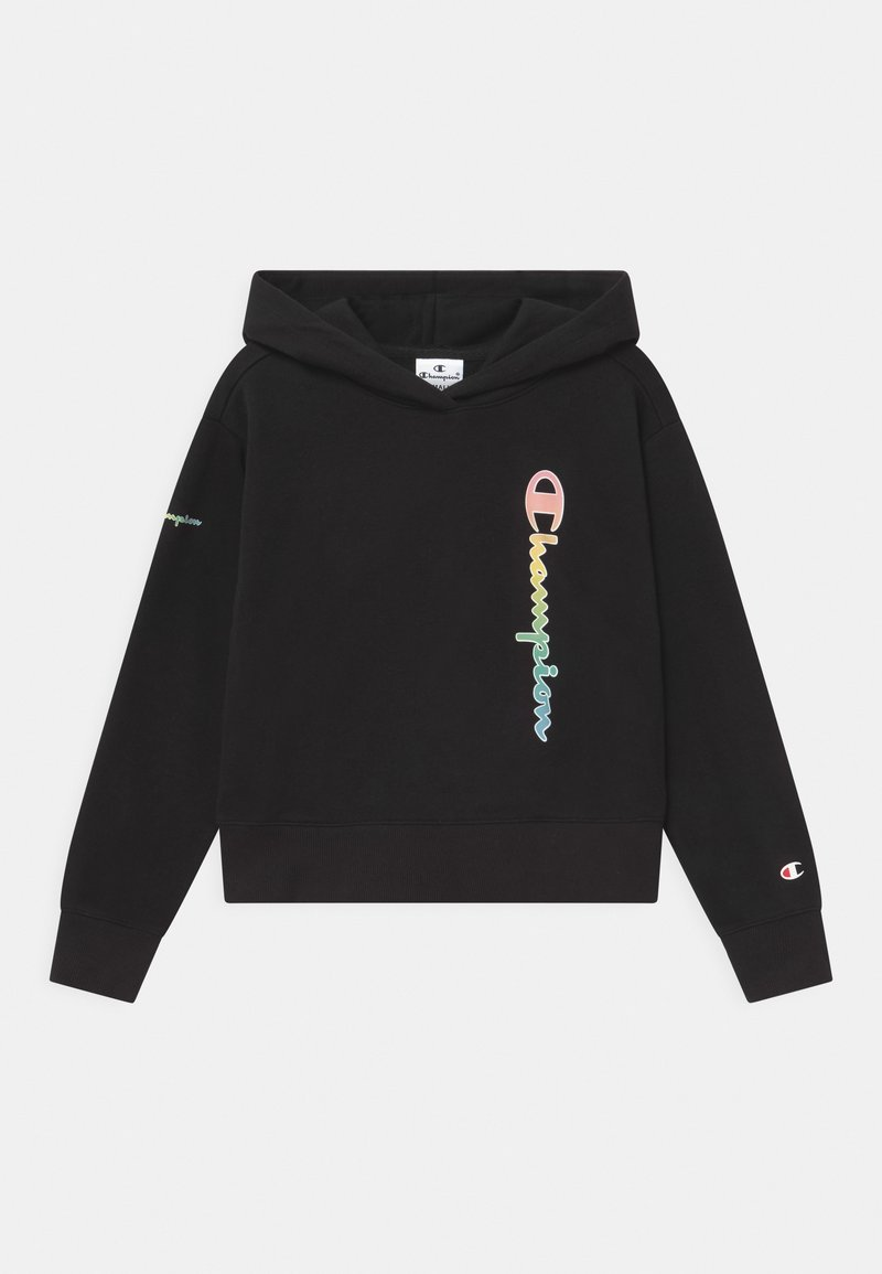 Champion - COLOR LOGO HOODED - Jersey con capucha - black